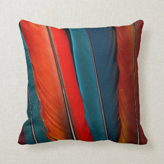 Scarlet Macaw Tail Feathers Cushion