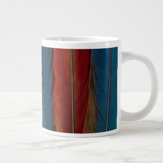 Scarlet Macaw Tail Feathers Large Coffee Mug