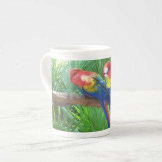Scarlet Macaws Bone China Mug