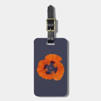 Scarlet Orange Poppy 1 Luggage Tag