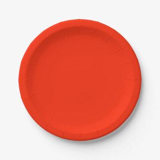 Scarlet Paper Plate