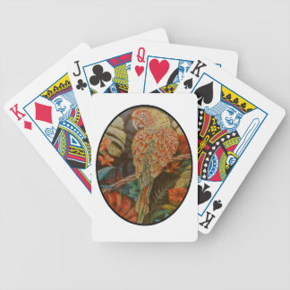 Scarlet Parrot Bicycle Playing Cards
