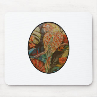 Scarlet Parrot Mouse Pad