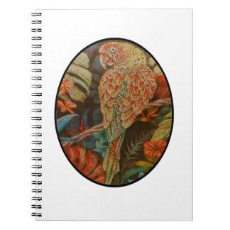 Scarlet Parrot Notebook