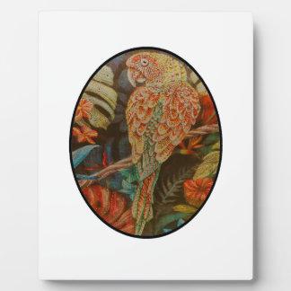 Scarlet Parrot Plaque