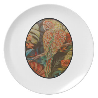Scarlet Parrot Plate