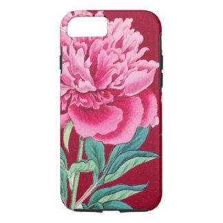 scarlet  pink peonies iPhone 7 case