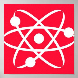Scarlet Red; Atom Poster