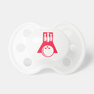 Scarlet Red Bowling Pacifiers