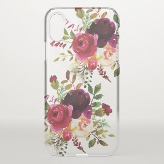 Scarlet Red Floral Bouquet Gift iPhone X Case