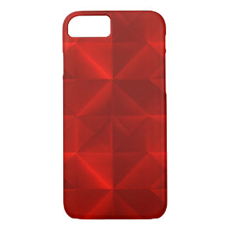 Scarlet Red Paper Origami Pattern iPhone 7 Case