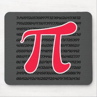 Scarlet Red Pi Symbol Mouse Pad