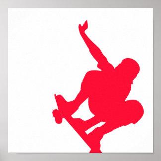 Scarlet Red Skater Poster