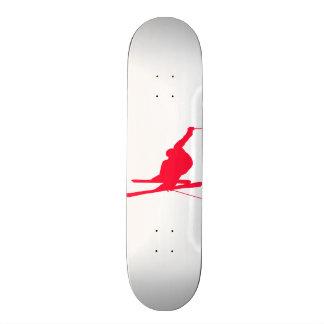 Scarlet Red Snow Ski Custom Skate Board