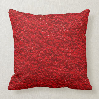 Scarlet Red Texture Cushion