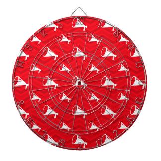 Scarlet Red, White, Chevron, Cheerleading Dart Board