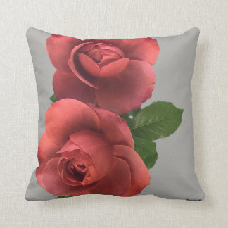 Scarlet Roses Pillow (2 Different Sides)