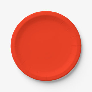 Scarlet Solid Colour Paper Plate