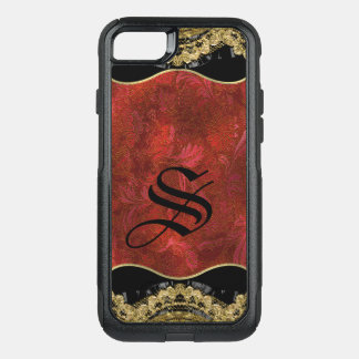 Scarlet Sparrow Protective Pretty Monogram OtterBox Commuter iPhone 8/7 Case