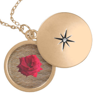 Scarlett Rose Gold Glitter Locket Necklace