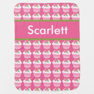 Scarlett's Personalized Cupcake Blanket