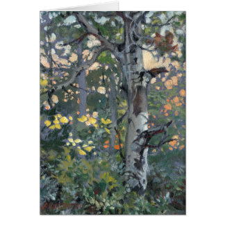 'Scarred Aspen' note card print