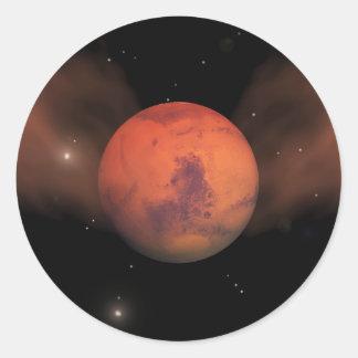 Scars of Mars Round Sticker