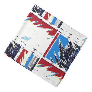 Scarves bandanas nautical red white blue custom