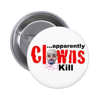 Scary! 6 Cm Round Badge