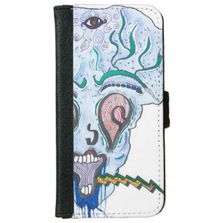 scary alien iPhone 6 wallet case