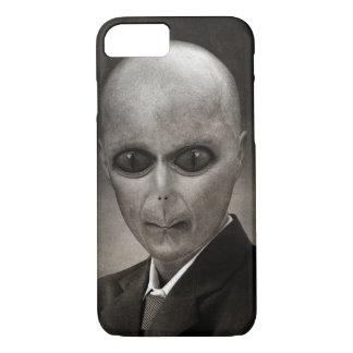 Scary alien portrait iPhone 7 case