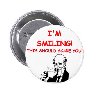 scary 6 cm round badge
