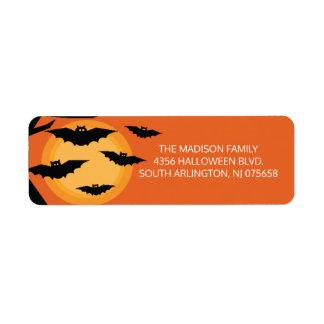 Scary Bats Halloween Return Address Label