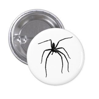 Scary big halloween spider 3 cm round badge