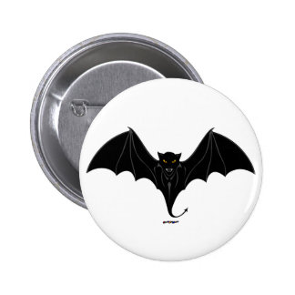 Scary Black Bat 6 Cm Round Badge