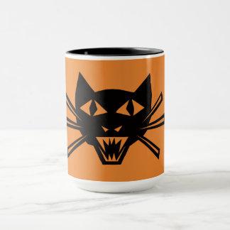 Scary Black Cat Coffee Mug by Julie Everhart