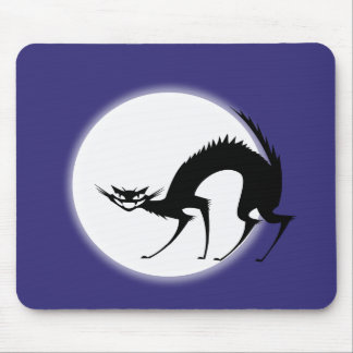 Scary Black Cat Mousepads