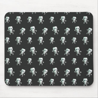 Scary black Skeleton Pattern Mouse Pad