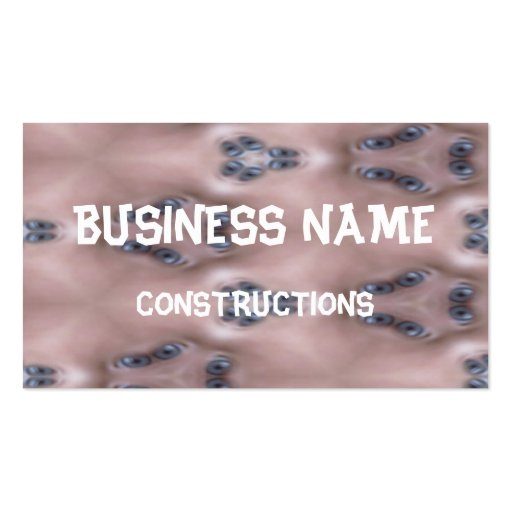 Scary blue eye business cards