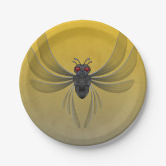 Scary Bug Halloween Paper Plate