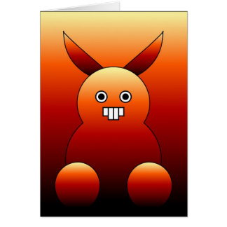 Scary Bunny Monster. Card