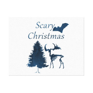 Scary Christmas Canvas Print