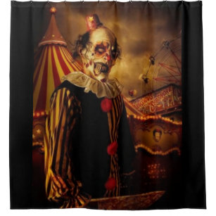 Scary Circus Clown Shower Curtain