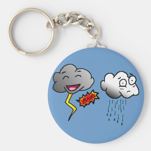Scary Clouds Key Chain
