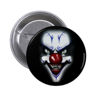 Scary Clown 6 Cm Round Badge