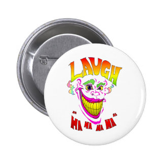 Scary Clown Laugh 6 Cm Round Badge