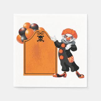 Scary Clown Paper Napkins Disposable Serviette