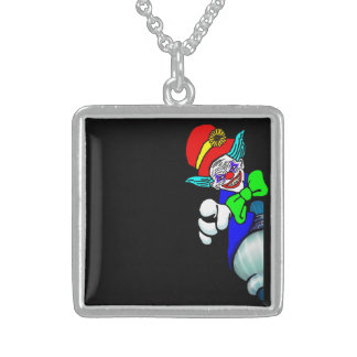 Scary Clown Sterling Silver Necklace