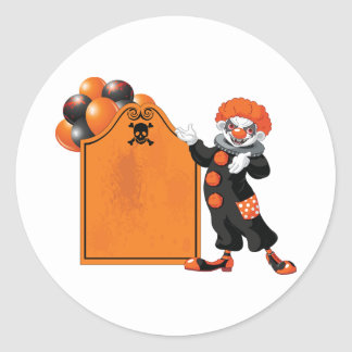 Scary Clown Stickers