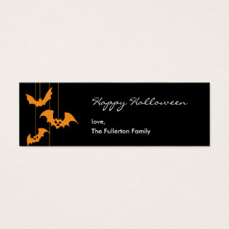 Scary Creatures Halloween Gift Tag Mini Business Card